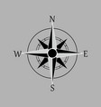 compass rose wind rose navigation icon isolated vector image vector image