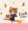 cute bear in halloween day vector image vector image