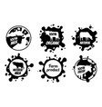 dairy vintage logos milk badges cheese vector image vector image