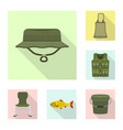 design of fish and fishing logo collection vector image