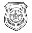 doodle police badge vector image vector image