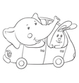 elephant and hare vector image