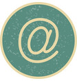 email address icon vector image vector image