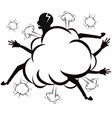 fighting cloud comic style vector image vector image