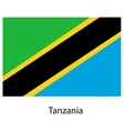 Flag of the country tanzania vector image vector image