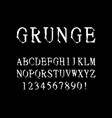 font grunge letters and numbers vector image vector image