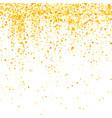gold confetti pattern vector image vector image