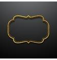 Golden frames vintage style vector image