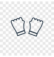 gym gloves concept linear icon isolated on vector image