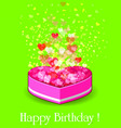 happy birthday gift box vector image vector image