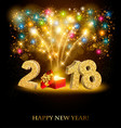 happy new year background with a firework and vector image