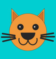 head of a cat in cartoon flat style vector image vector image