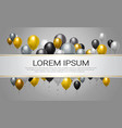 helium balloons decoration for party celebration vector image vector image