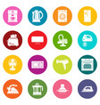 house appliance icons set colorful circles vector image vector image