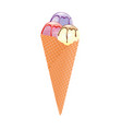 ice cream in cone vector image