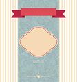 invitation card decorative frame vector image vector image