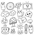 kawaii doodle for kids vector image vector image