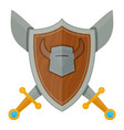 knights shield medieval weapons heraldic vector image vector image