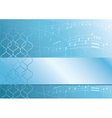 light blue music background vector image vector image