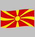 macedonia flag on gray background flat style vector image