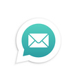 Mail Envelope in speech bubble icon vector image vector image