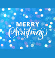 merry christmas text holiday greetings quote vector image vector image