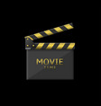 movie time icon vector image