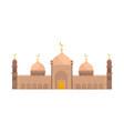 muslim mosque religious temple building vector image vector image