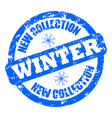 new collection winter rubber stamp clothes shoes vector image vector image