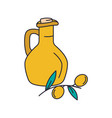 olive oil icon cartoon style vector image