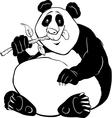 panda bear coloring page vector image vector image