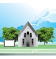 parish church notice board vector image vector image