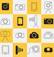 Photo - Photography Icons vector image vector image