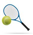 racket and tennis ball vector image vector image