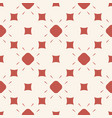 red seamless pattern with geometric figures vector image