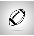 rugball simple black icon vector image vector image