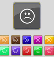Sad face Sadness depression icon sign Set with vector image vector image