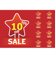 sale star stickers vector image vector image