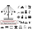 set of 24 amusement park icons vector image vector image