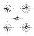 set of various icons of navigation compass vector image vector image