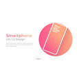 smartphone with blank screen banner vector image vector image
