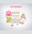 spa treatment white poster vector image vector image