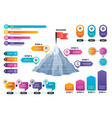 steps to success infographics mountain graph with vector image vector image