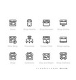 store or shop icon set franchise business vector image