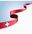 swiss flag background vector image vector image