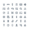 thin line icons set with science vector image