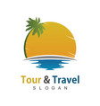 travel beach logo vector image vector image
