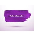 Violet watercolor banner vector image vector image