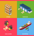 warehouse transportation delivery cargo logistic vector image vector image