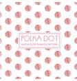 watercolor polka dot background vector image